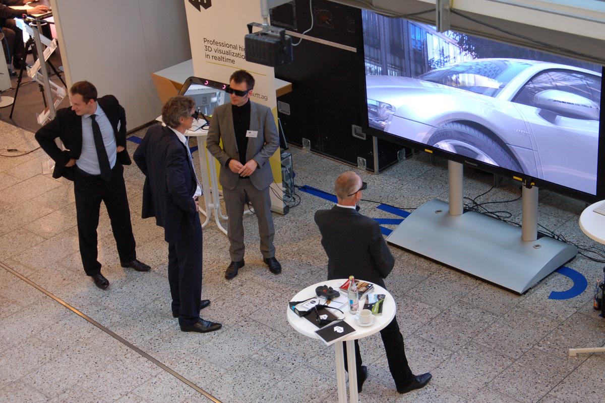 VI FORUM 2013 - Besucher testen 3D Visualisierung